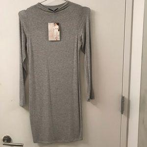 Naked Wardrobe NW Gray Dress